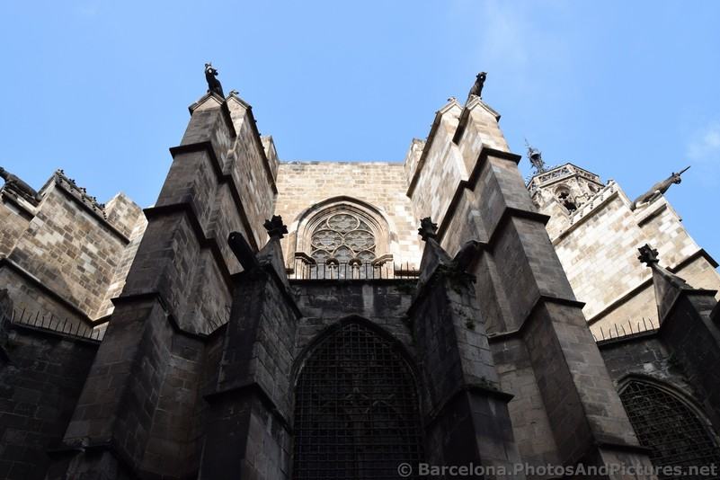 Unicorns and Other Gothic Creatures at Back of Barcelona Cathedral.jpg
