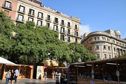 Bookstore & Caixa Catalunya in front of Barcelona Cathedral.jpg