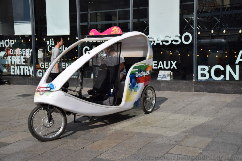 Desigual Trixi 3 Wheel Tricycle Vehicle near Barcelona Cathedral.jpg