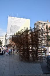 Wooden Lattice art Found outside of Barcelona Cathedral.jpg