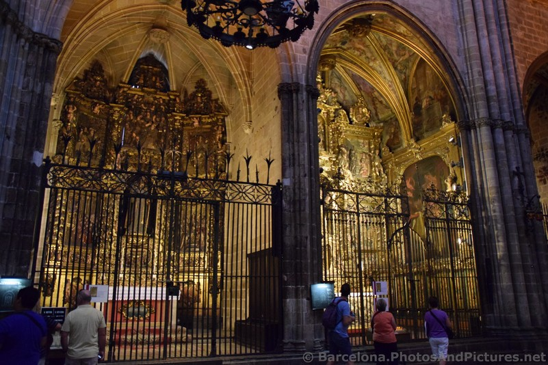 Gated Shrines within Barcelona Cathedral.jpg