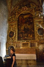 Virgin Mary Mural inside Barcelona Cathedral.jpg
