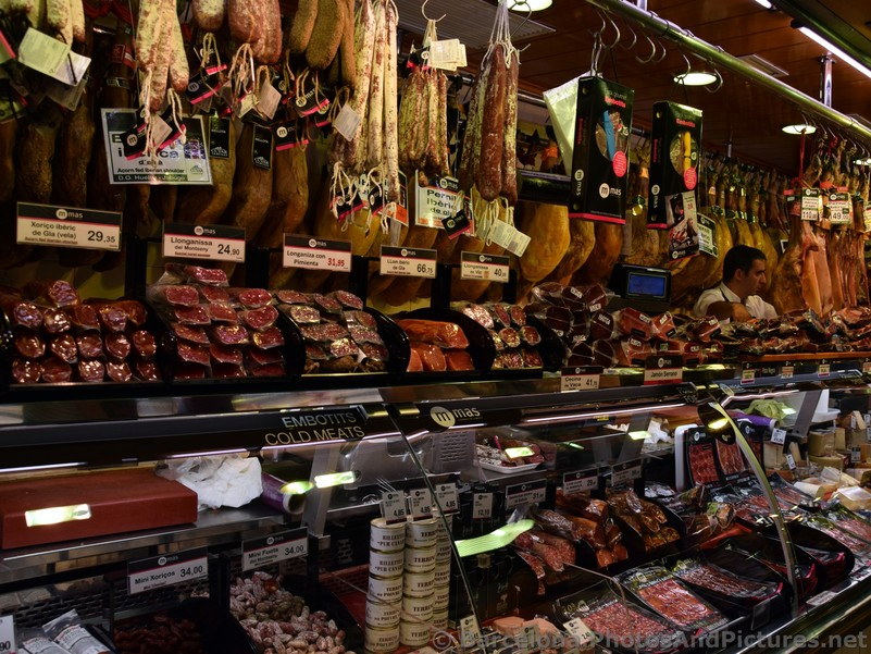 Boutique Sausages and Cured Ham for Sale @ La Boqueria.jpg