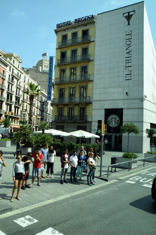 Hotel Regina & El Triangle of Barcelona with Pedestrians.jpg