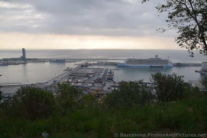 Barcelona Ocean Skyline with Oasis of Seas Cruise Ship Docked.jpg